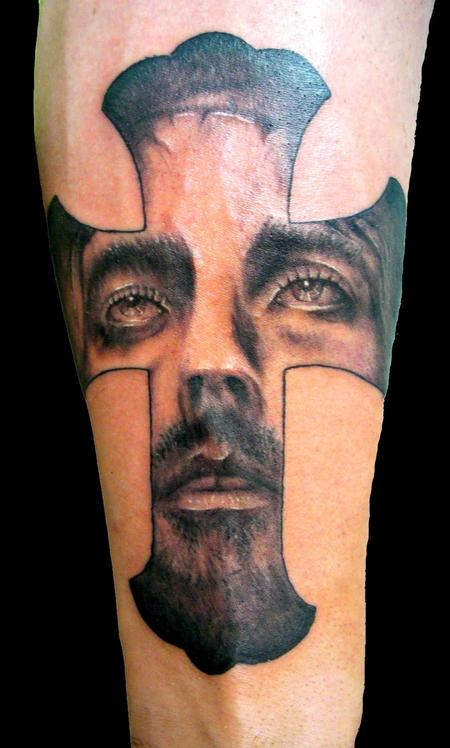 PowerLine Tattoo : Tattoos : Religious : Realistic Jesus Portrait