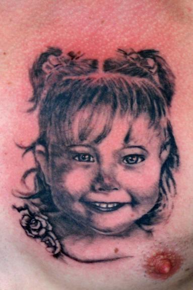 Tattoos - Cute Kid Portrait - 54179