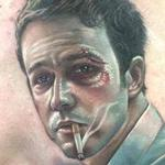 Tattoos - Full color realistic Fight Club movie portrait tattoo - 113545