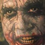 Color, realistic Joker portrait Tattoo Design Thumbnail