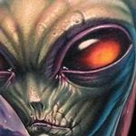 Tattoos - Full color alien and space tattoo - 113546
