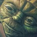 Tattoos - Full color realistic Yoda tattoo from Star Wars - 115939
