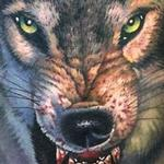 Tattoos - Full color realistic wolf tattoo - 113550