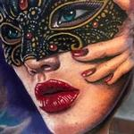 Tattoos - Masquerade mask portrait tattoo - 125910