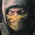 Tattoos - Scorpion from Mortal Kombat portrait tattoo - 125911