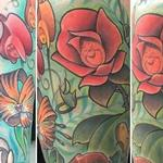 Tattoos - New School Alice In Wonderland Flowers - 132612