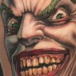 Tattoos - Full color Joker portrait tattoo - 127243