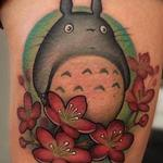Tattoos - New School My Neighbor Totoro and Cherry Blossoms  - 124850