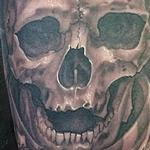 Tattoos - blak and gray army skull - 106145