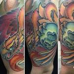 Tattoos - New School Phoenix with skull tattoo - 114210