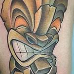 New school Tiki guy Tattoo Design Thumbnail
