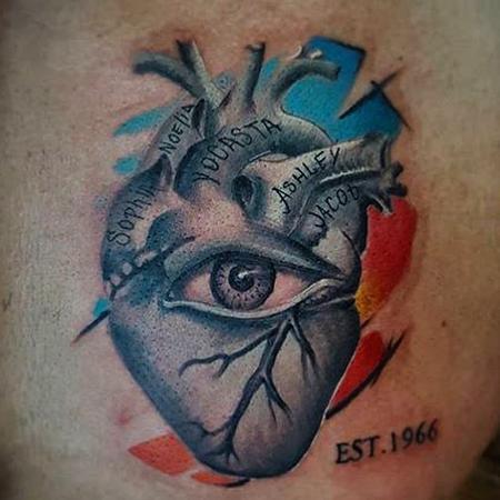 Tattoos - heart  - 129624