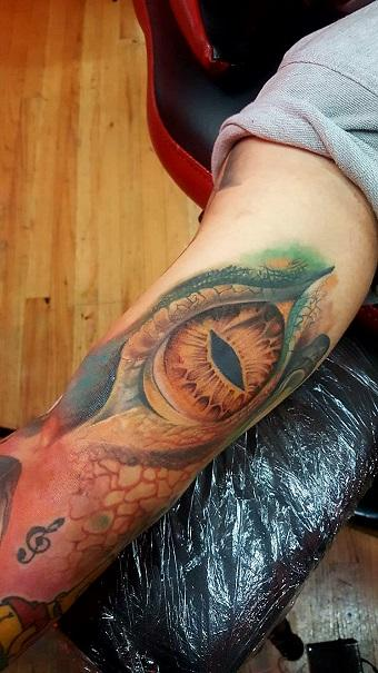 Tattoos - Reptilian Eye - 130323