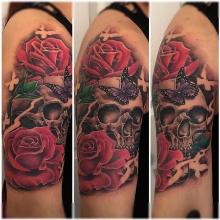 Tattoos - Roses and Skulls - 138897