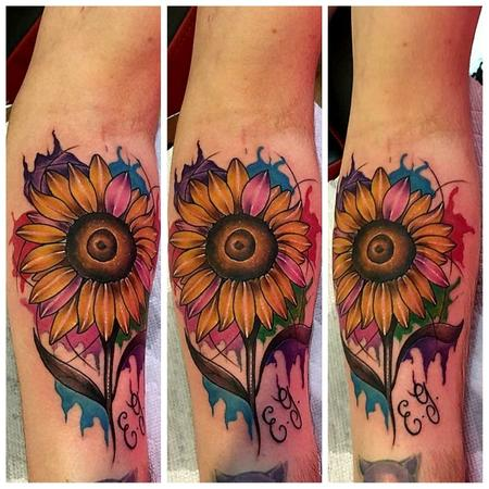 Tattoos - Sun flower - 132797