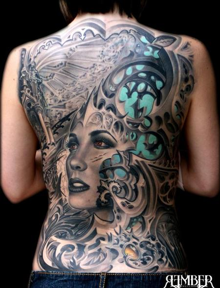 Tattoos - Gothic Back - 71919