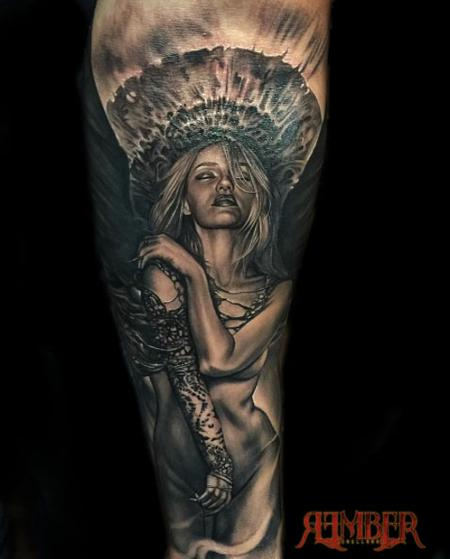 Tattoos - Angel Blend on Forearm - 115140