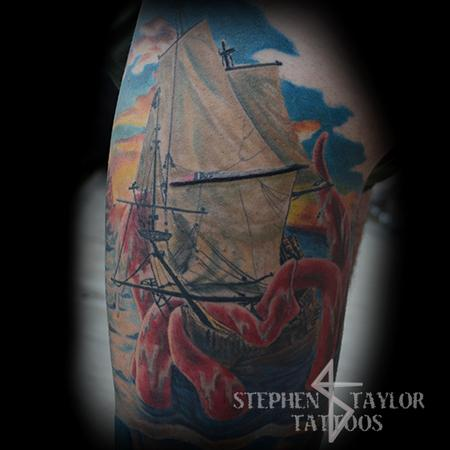 Tattoos - Ship V Krakken - 108370