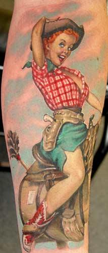 Tattoos - Cowgirl - 18885