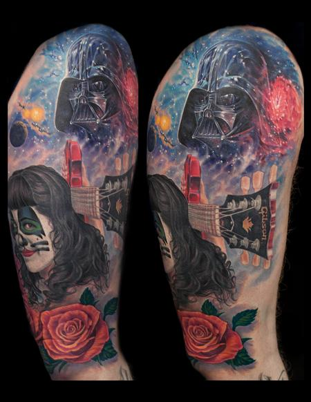 Tattoos - fun collage kiss star wars - 127320
