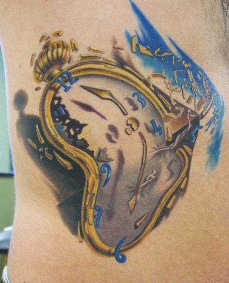 Pics Photos - D... Melting Clock Tattoo Designs