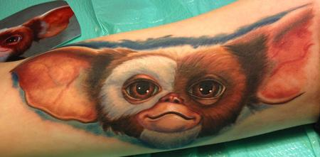 Steve Wimmer - Gizmo From Gremlins Tattoo