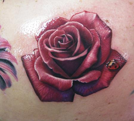 Realistic Rose Tattoo by Steve Wimmer : Tattoos