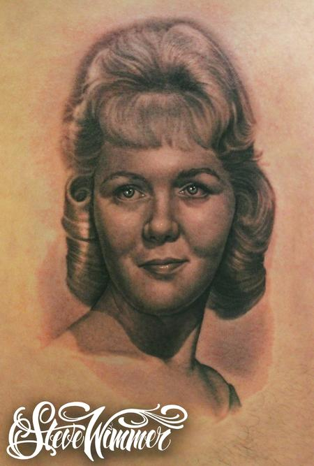 Steve Wimmer - Portrait of his Mom On his Ribs