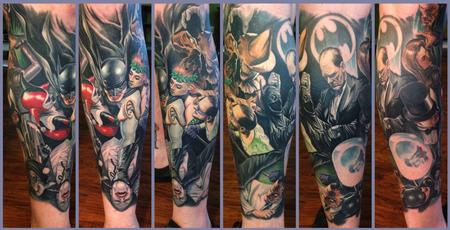 Steve Wimmer - Alex Ross Batman leg sleeve (Healed)