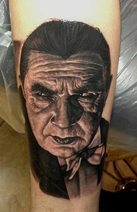 Steve Wimmer - Bela Lugosi Dracula tattoo