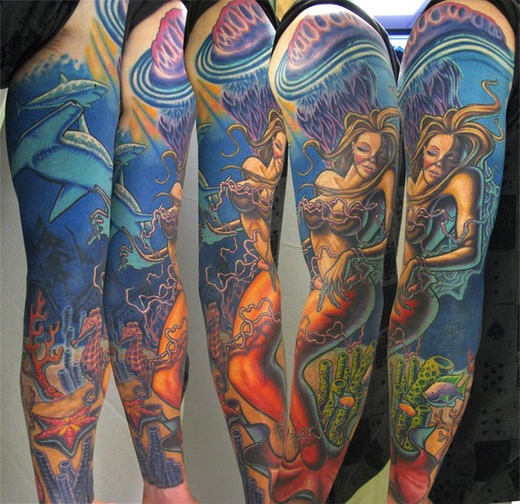 Steve Wimmer - Mermaid Underwater Sleeve (FreeHanded)