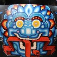 Tattoos - psychedelic spirit face - 86620