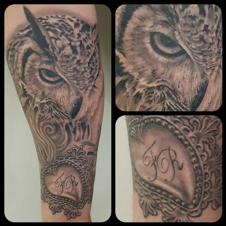 Tattoos - Owl and exvoto heart - 133704