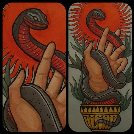Tattoos - The snake and chalice - 132634