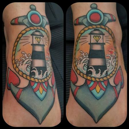 Tattoos - Anchor and lighthouse - 133709