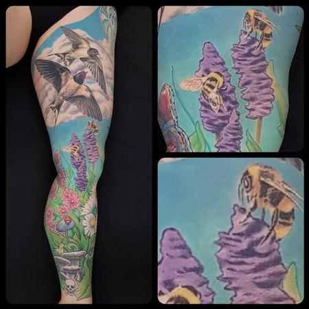 Tattoos - Nature Leg Sleeve - 134471