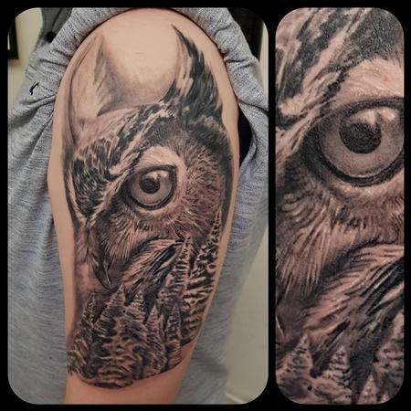 Tattoos - Owl and forest - 134987