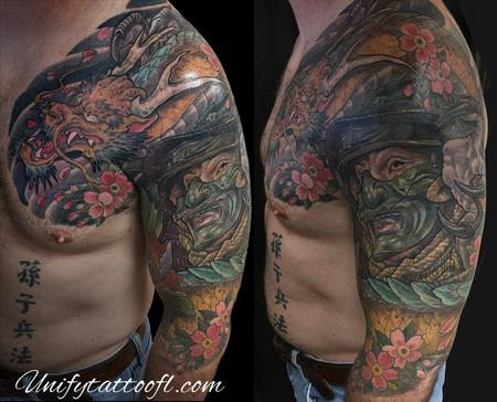 Tattoos - Dragon & Samurai Tattoo - 120371