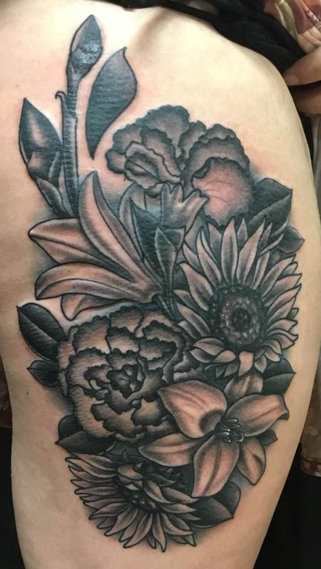 Tattoos - Floral Bouquet - 134945