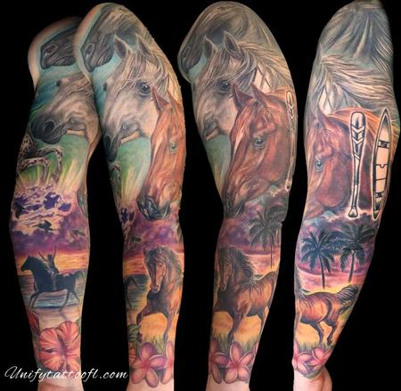 Tattoos - Horse Sleeve - 129364
