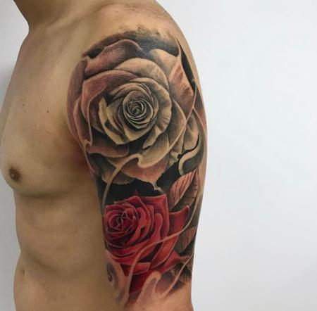 Tattoos - Roses on arm - 138826