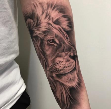 Tattoos - Lion on Forearm - 138823