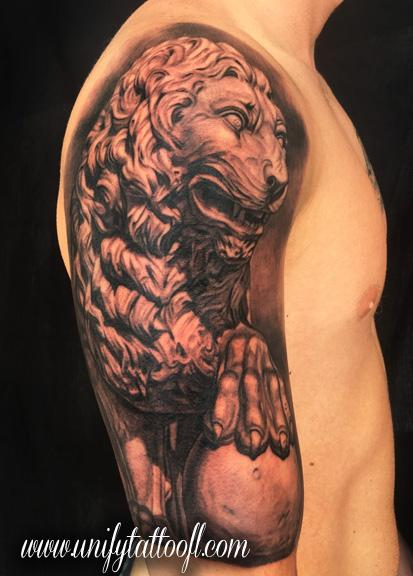 Tattoos - Lion Statue - 115862