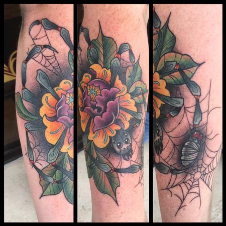 Tattoos - Spider Peony - 134964