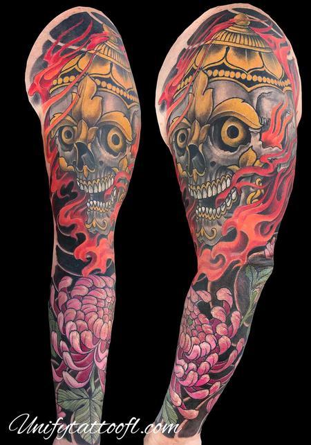 Tattoos - Tibetan Skull - 138930
