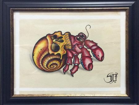 Tattoos - Hermit Crab with Skull Shell - 125385