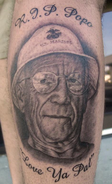 Tattoos - Portrait of Grandpa - 38261