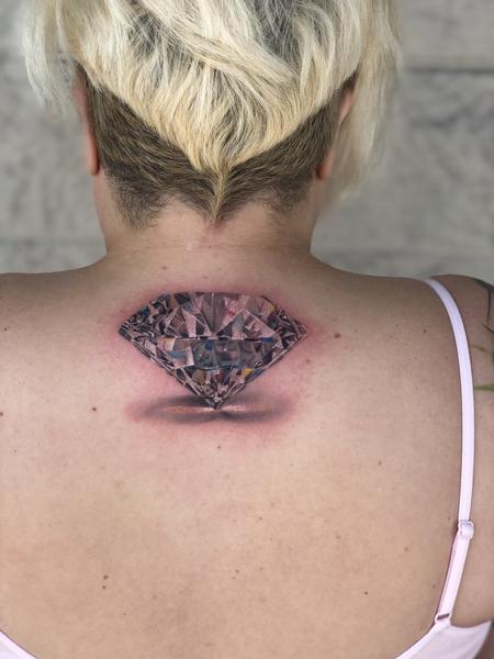 Tattoos - 3D Diamond Tattoo - 141245