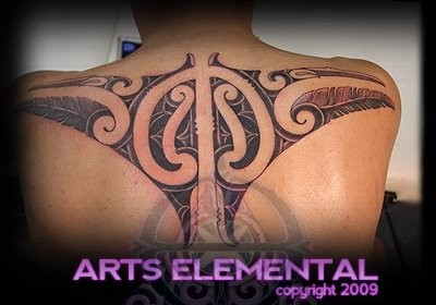 Ta moko back Tattoo Design