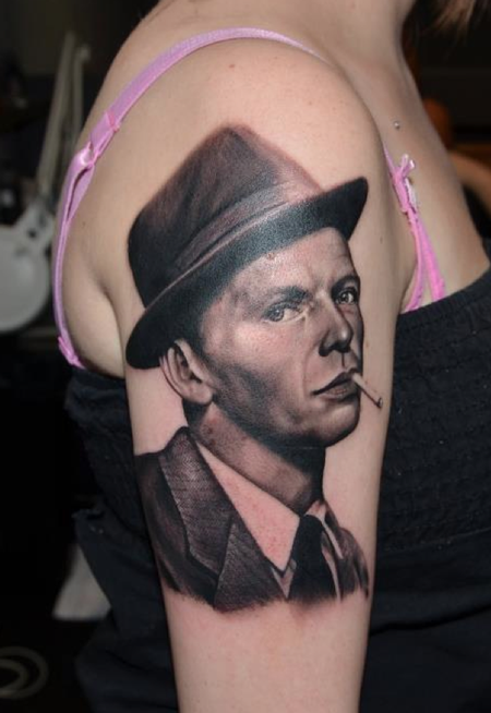 Georgia's Frank Sinatra portrait Tattoo Design